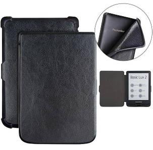 Чехол обложка  для PocketBook 606  автосон черный, фото 2