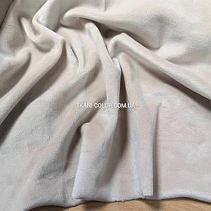 Ткань плюш велюр светло-бежевый