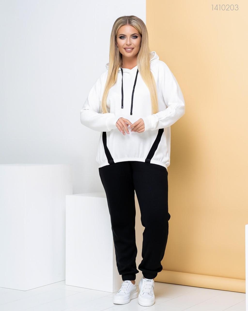 Р. 48-58 Теплый женский спортивный костюм с худи больших размеров