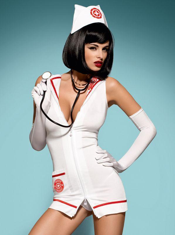 Emergency dress костюм медсестри білий Obsessive