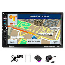 Автомагнитола 2DIN 7020G c GPS навигатором 2-DIN магнитола 2 ДИН в авто с USB и Bluetooth