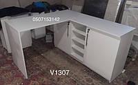 Маникюрный стол с угловой тумбой Модель V431-1307 белый, фото 1