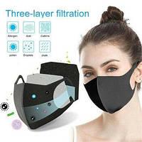 Захисна тканинна маска оригінальна багаторазова антибактеріальна для обличчя від вірусів та інфекцій 10 шт