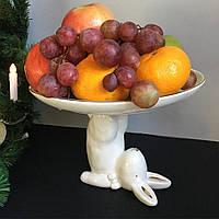 Тарілка-підставка керамічна Кролик 16,5 см, фото 1