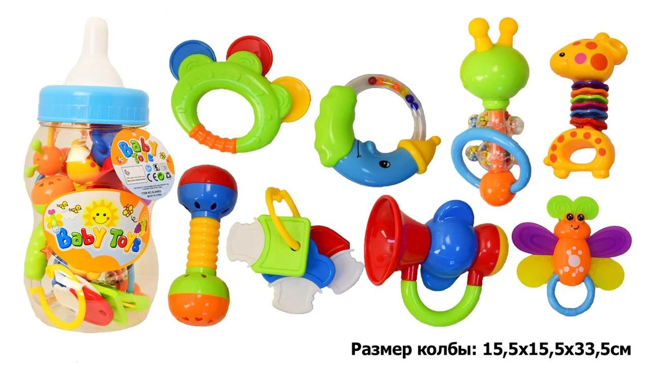 Брязкальце в ручку в сосці 8 іграшок в наборі  SL84802-3/4