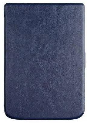 Обложка чехол  для PocketBook Touch Lux 4 627 автосон темно синий, фото 2