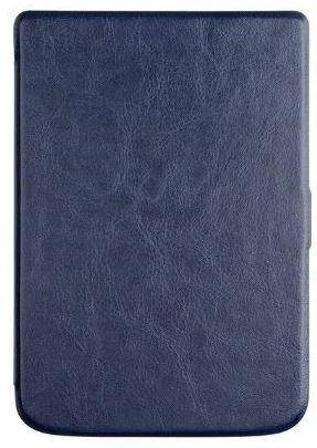 Обложка чехол  для PocketBook Touch Lux 5 628 автосон темно синий, фото 2