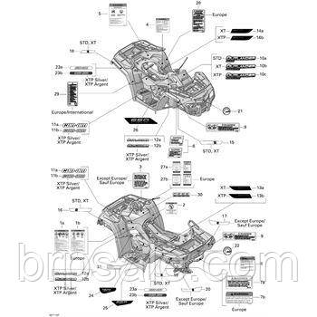 Наклейка консоли Can-Am BRP Console Decal