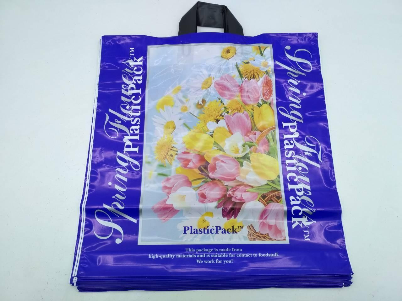 Пакет с петлевой ручкой (47*49) Тюльпан Наксан (25 шт)