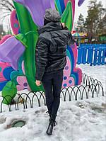 Женская стильная теплая куртка из эко-кожи на силиконе (Норма), фото 6