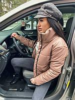 Женская стильная теплая куртка из эко-кожи на силиконе (Норма), фото 7