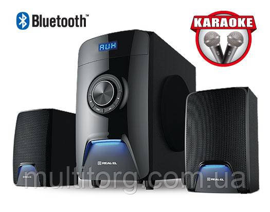 Колонки 2.1 REAL-EL M-570 black Bluetooth, караоке УЦІНКА