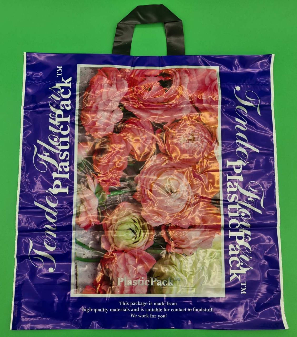 Пакет с петлевой ручкой (47*49) Розы Наксан (25 шт)