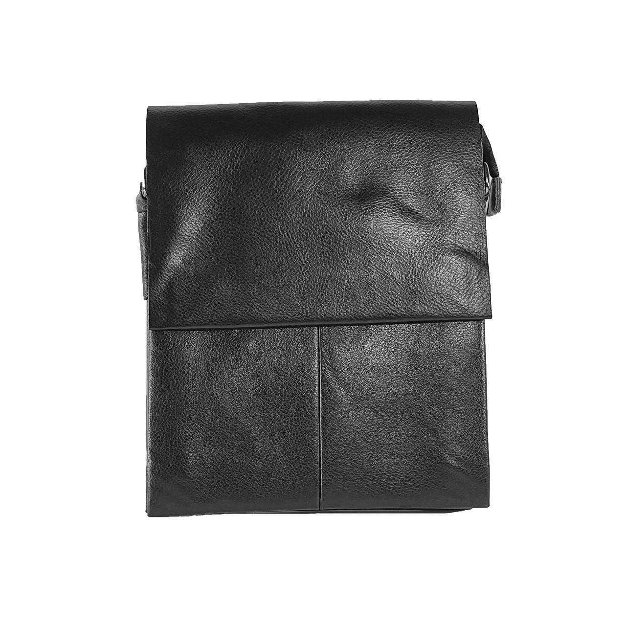 Многосекционная сумка с кожаным клапаном, большая