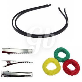 Заготовки для заколок, резинок и ободков для волос и брошей