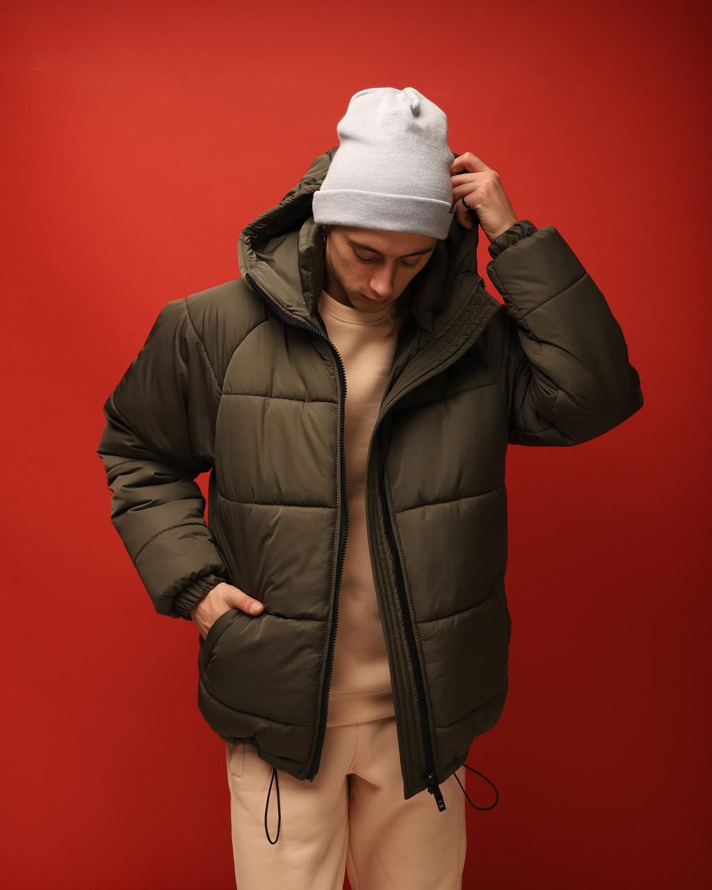 Зимняя куртка мужская хаки бренд ТУР модель Брэт