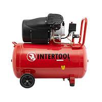 Компресор 100 л, 2.23 кВт, 220 В, 8 атм, 354 л/хв, 2 циліндра INTERTOOL PT-0005