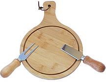 Сырная доска FunTree 26х18см, с сырными ножами