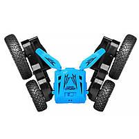 Детская трюковая машинка YDJIA D850 Blue вездеход-перевертыш с дистанционным управлением, фото 5