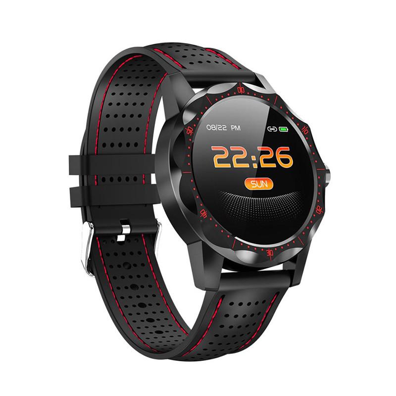 "Смарт-часы Colmi Sky 1 Black + Red 1.3"" дисплей шагомер Bluetooth пульсометр"