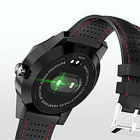 "Смарт-часы Colmi Sky 1 Black + Red 1.3"" дисплей шагомер Bluetooth пульсометр, фото 2"