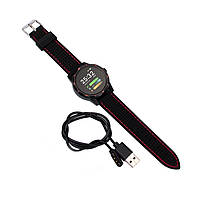 "Смарт-часы Colmi Sky 1 Black + Red 1.3"" дисплей шагомер Bluetooth пульсометр, фото 4"