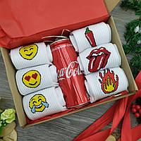 Подарочный набор в коробке универсальный для мужчин, женщин 7в1, подарочный бокс ко дню св Валентина смайлы