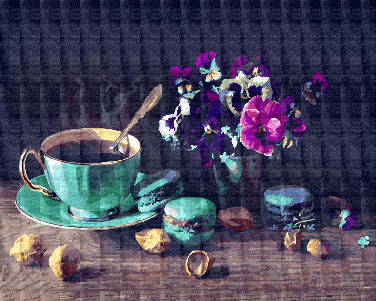 Картина по номерам Brushme Кофе с макарунами