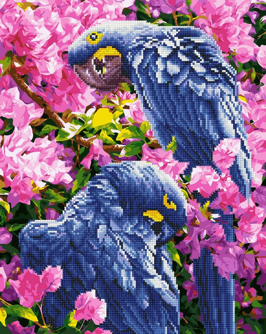 Картина по номерам Brushme Картина по номерам Brushme Яркие попугаи