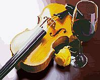 Картина по номерам Brushme Картина по номерам Brushme Скрипка и вино