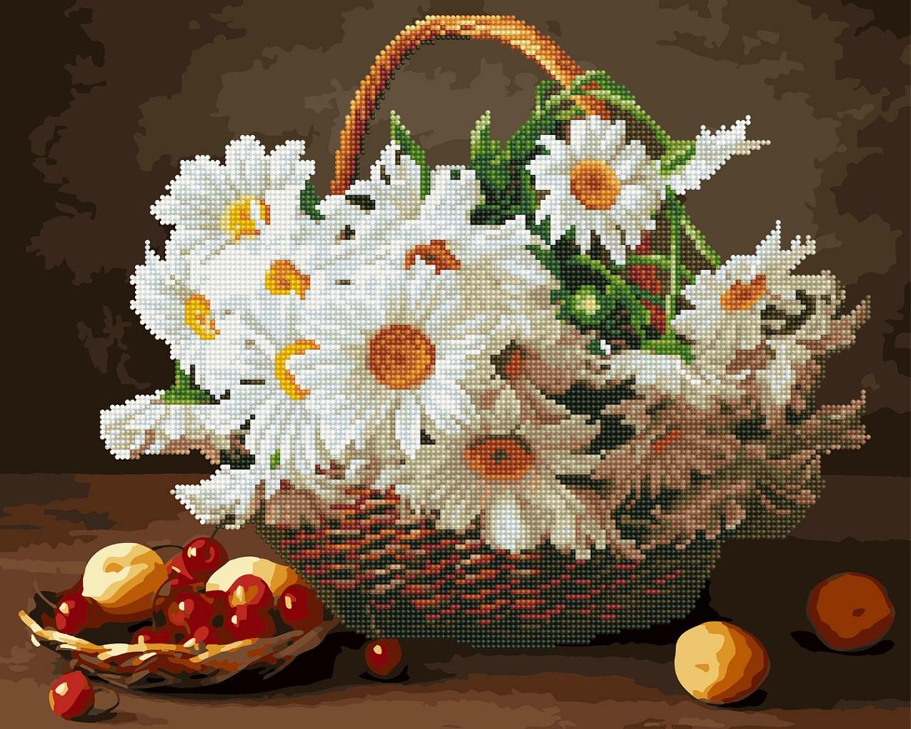 Картина по номерам Brushme Ромашки и вишни