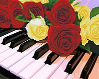Картина по номерам Brushme Розы на рояле