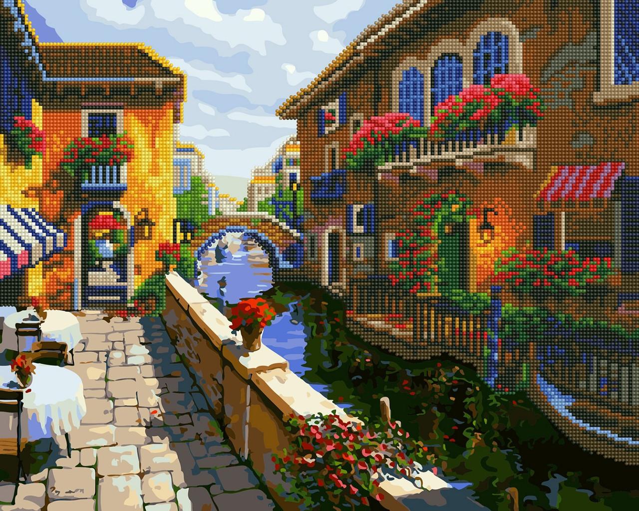 Картина по номерам Brushme Провинциальный городок