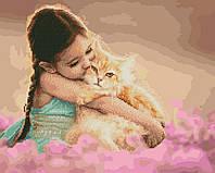 Картина по номерам Brushme Кошачья нежность