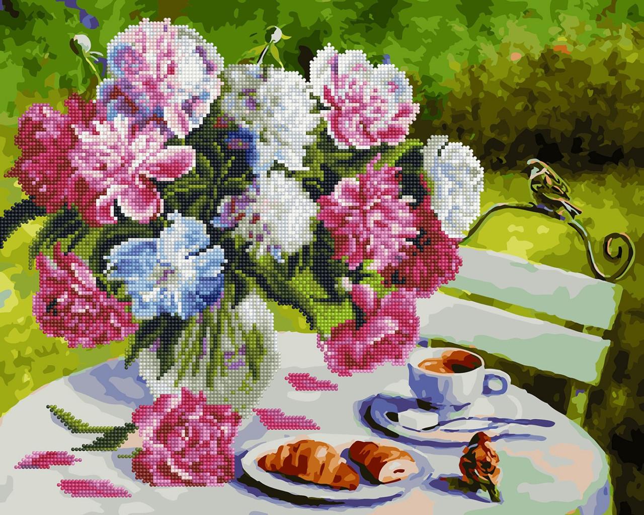 Картина по номерам Brushme Завтрак в саду