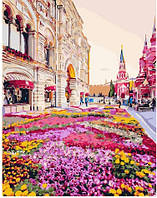 Картина по номерам Brushme Розовая клумба