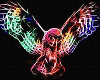 Картина по номерам Brushme Неоновая сова в полете