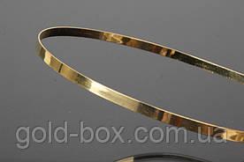 Заготовка ободок обруч для волос металлический золотой 1шт