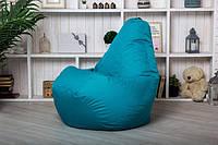 Кресло мешок груша пуфик XL (120х75) Ментоловое