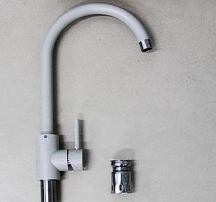 Змішувач для гранітної мийки Kraft 7001-D чорний