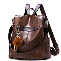 Жіночий рюкзак сумка з брелоком, фото 1
