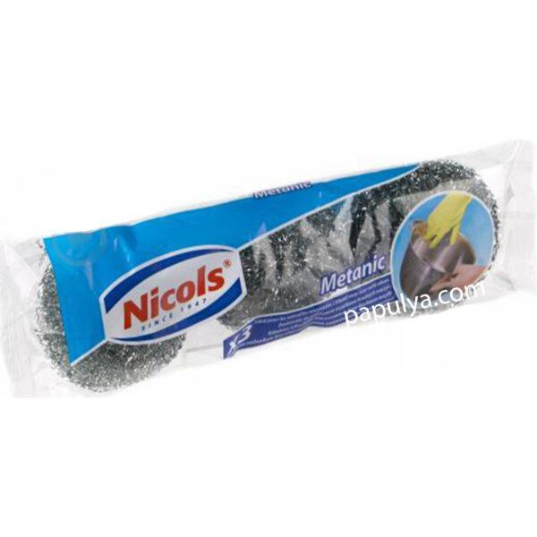 Скребок Nicols сетчатый из нержавеющей стали Metanic 3 шт.