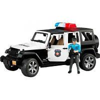 Спецтехника Bruder Джип Wrangler Unlimited Rubicon Police + фигурка (02526)