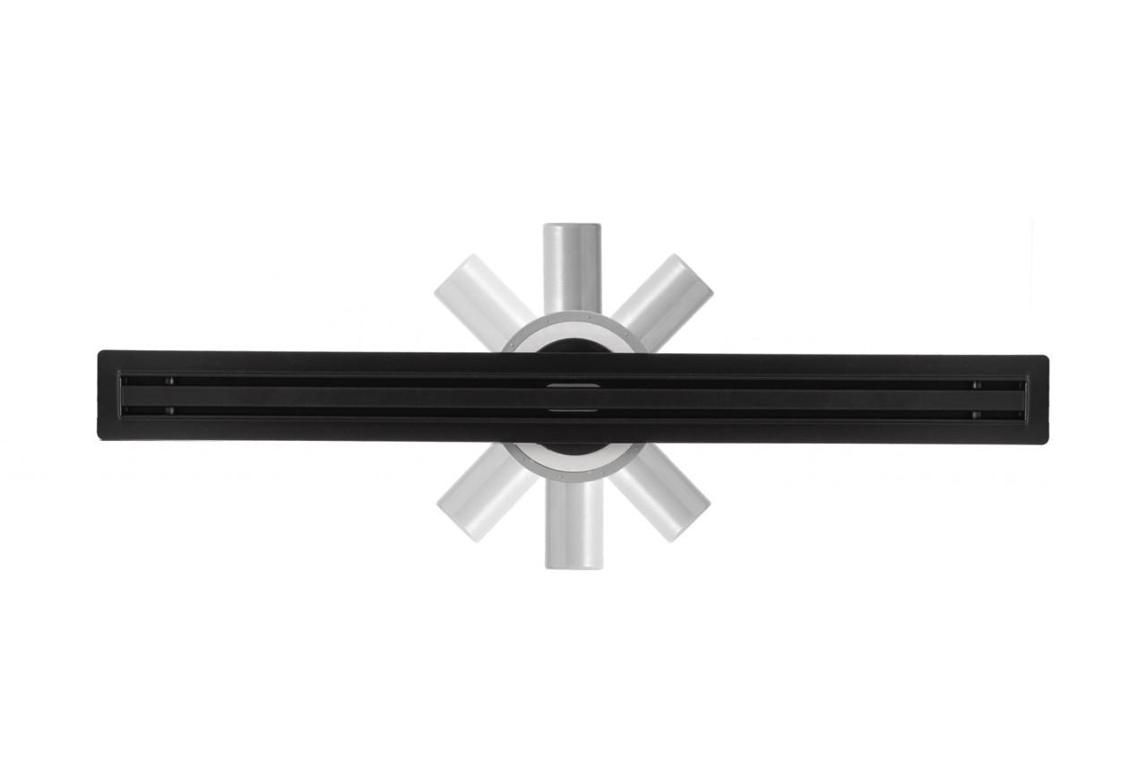 Трап для душа тонкий Epelli Slim Black 80 cm