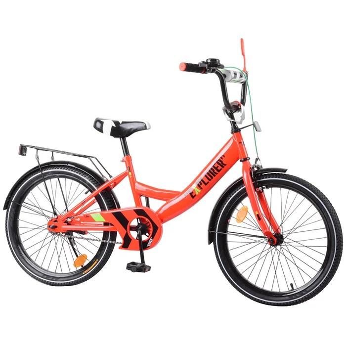 Велосипед  EXPLORER 20'' 2-х колісний crimson з дзвінком та ручним гальмом  T-220110