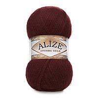 ANGORA GOLD 634 бордово-коричневый - 20% шерсть, 80% акрил