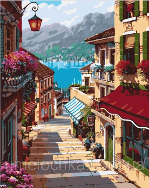 Картина по номерам Поселок Белладжио (BK-GX7248) 40 х 50 см (Без коробки)
