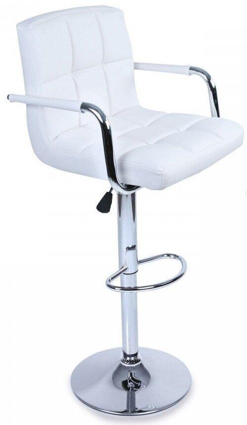Барный стул хокер с подлокотниками Bonro белый 628-1