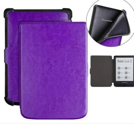 Чехол обложка  для PocketBook 606  автосон фиолетовый, фото 2