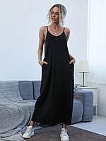 Женское летнее платье в пол в спортивном стиле, фото 1
